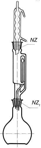 Prístroj extrakčný podľa Soxhleta s chladičom podľa Allihna, 100 ml