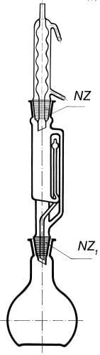 Prístroj extrakčný podľa Soxhleta s chladičom podľa Allihna, 1000 ml