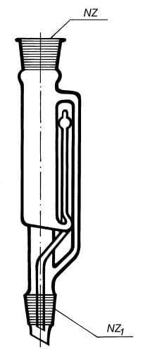 Nástavec extrakčný podľa Soxhleta k prístroju podľa Soxhleta, 70 ml