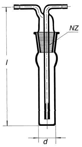 Přístroj na absorpci prašných látek ze vzduchu Impinger, NZ 29/32