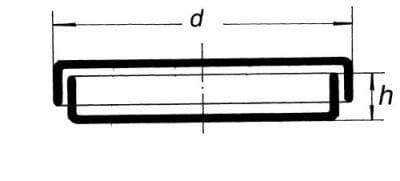 Miska Petriho - jednodielne dno, 70 × 15 mm