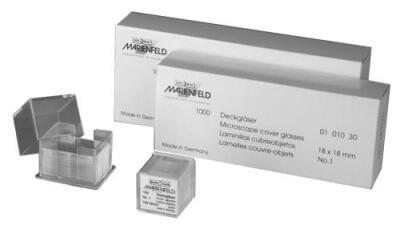 Mikrosklo krycie SUPERIOR, 1. hydrolytická trieda, 12 × 12 mm