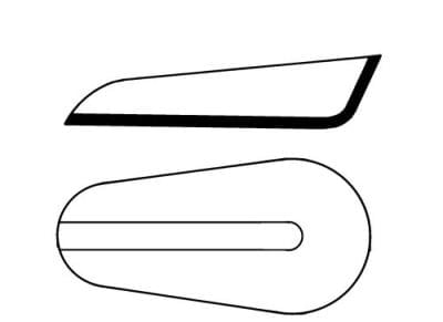 Lodička na váženie, 75 × 30 × 14 mm
