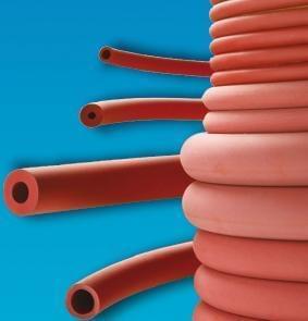 Hadice gumená, červená, vákuová, Vnútorný priemer 8 mm - 8 x 16