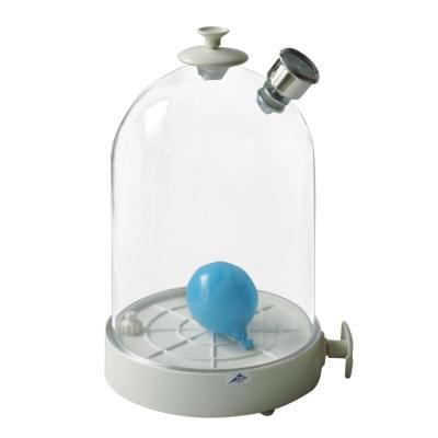 Vakuová komora s ruční pumpou