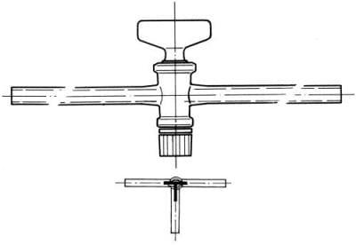 Kohútik trojcestný, označenie 2, vŕtanie 2,5 mm, tvar T