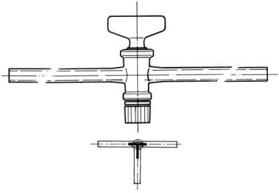 Kohútik trojcestný, označenie 4, vŕtanie 4,0 mm, tvar T