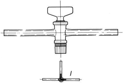 Kohout trojcestný s vrtáním tvaru L, označení 2, vrtání 2,5 mm