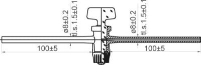 Kohútik priamy jednocestný, NZ 12,5, sklo