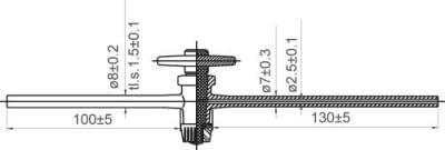 Kohout přímý jednocestný s teflonovým kladívkem, dvourant, NZ 12,5