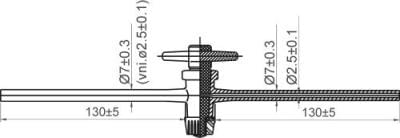 Kohout přímý jednocestný se skleněným kladívkem, dvourant, NZ 12,5