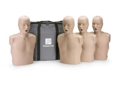 Prestan KPR-AED figurína dospelého človeka s KPR monitorom - balenie 4 ks