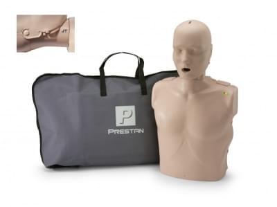 Prestan KPR-AED figurína dospelého človeka s pohyblivou čeľusťou a KPR monitorom