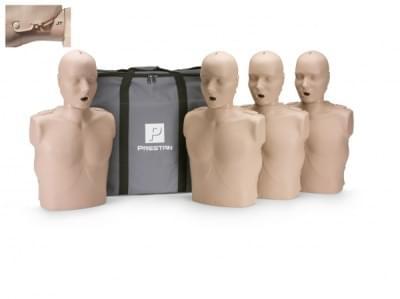 Prestan KPR-AED figurína dospelého človeka s pohyblivou čeľusťou a KPR monitorom - balenie 4 ks