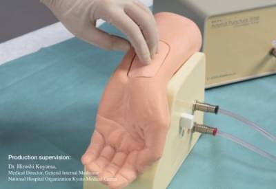 M99 - Model zápästia k simulácii napichnutia tepny