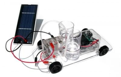 Vedecká sada s autom na palivový článok