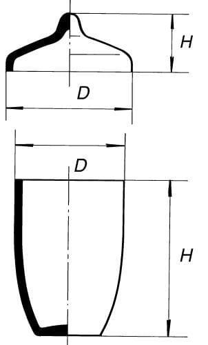 Kelímek pro stanovení prchavé kapaliny s víčkem
