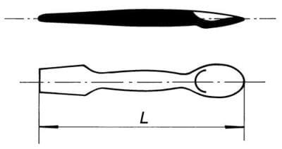 Kopisť s lyžicou, 164 mm