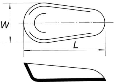 Lodička na váženie, dĺžka 64 mm