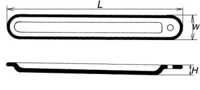 Lodička spaľovacia s uškom, dĺžka 90 mm