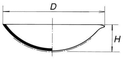 Miska odparovacia polohlboká, 558 ml