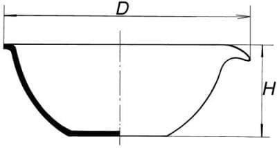 Miska odparovacia s rovným dnom, 154 ml