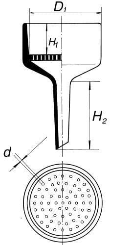 Lievik Büchnerov, priemer 62 mm