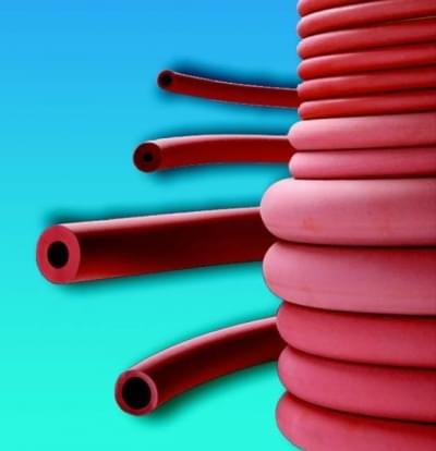 Hadice pryžová, červená, vhodná pro připojení ke kahanu
