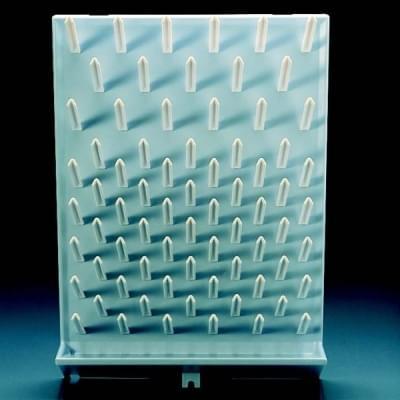 Odkvapkávač na sklo (sušiak), PS, s odtokovým žliabkom, 450 × 630 mm