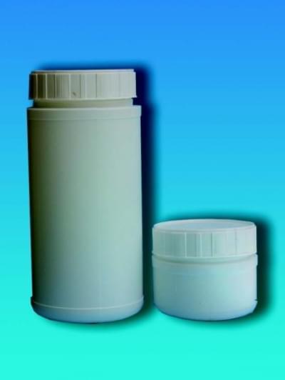 Fľaša na chemikálie, širokohrdlá, biela, 250 ml