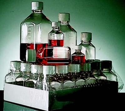 Fľaša sterilná, štvorcová, PETG, 500 ml