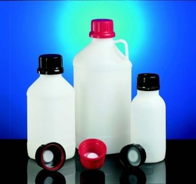 Fľaša reagenčná s UN kódom, HDPE, úzkohrdlá, priesvitná, bez uzáveru, 2 500 ml