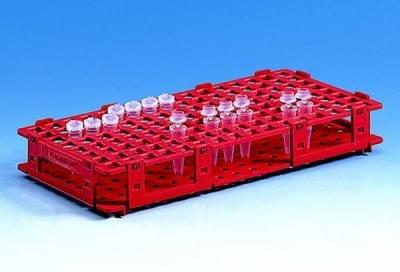 Stojan na mikroskúmavky, PP, červený