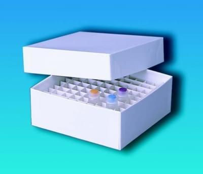 Kryobox papierový, 136 x 136 mm, papírový potah, 32 mm