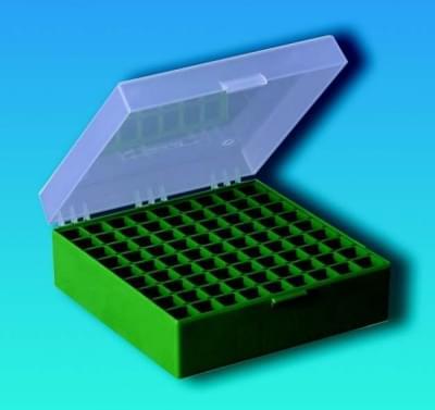 Kryobox s mriežkou, PP, pre 1,2 - 2 ml skúmavky, zelená
