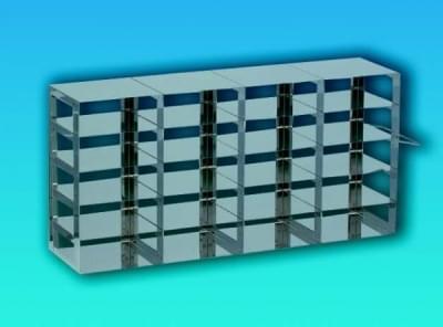 Stojan nerez na kryoboxy, pro skříňový mraz. Box, 3 × 5 míst