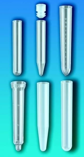Skúmavky, PS, bez uzáveru, guľaté dno, 5 ml, průměr 12 mm