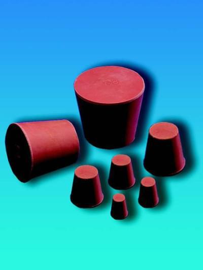 Zátka gumová, kónická, horný priemer 9 mm, dolný priemer 5 mm, výška 20 mm