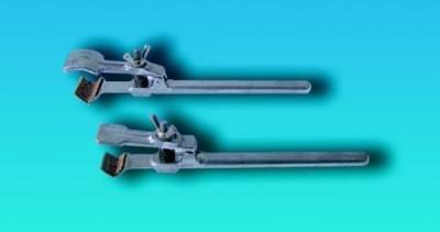 Držiak bez svorky, k uchyteniu dvojitou svorkou na tyč stojanu, typu I, dĺžka 186 mm
