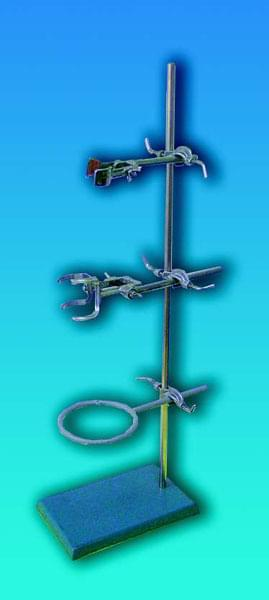 Stojan laboratórny Bunsen, kompletný, dĺžka tyče 750 mm