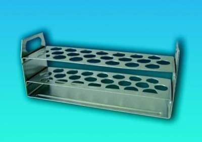Stojan na 22 skúmaviek s priemerom do 17 mm, hliníkový