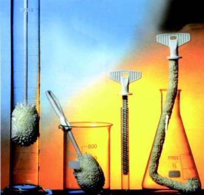 Kefy celoplastové, pre banky a úzkym hrdlom laboratórne sklo