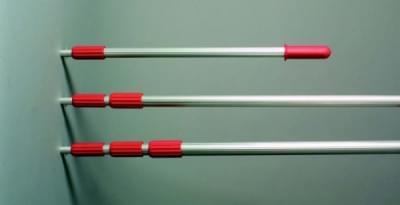 Teleskopická tyč z hliníka pre priem. naberačky, nast. dĺžka od 1,25 m do 2,50 m