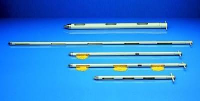 Zónový vzorkovač na sypké materiály - vzorkovač Uno, ušľachtilá oceľ, priemer 25 mm