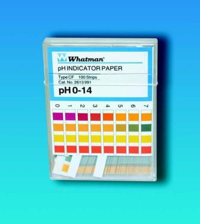 Indikátorové papírky WHATMAN, pH 1 - 12, Typ - CS