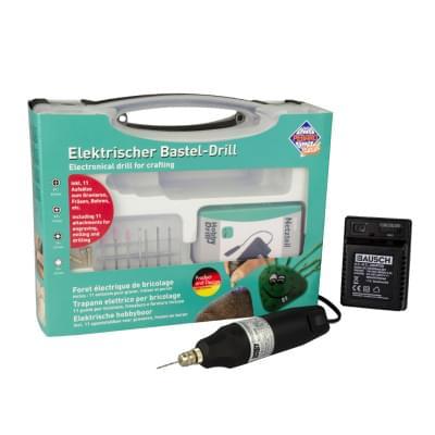 Elektrická hobby vŕtačka s adaptérom v kufríku