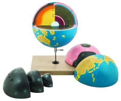 HS610 - Fyziografický obrysový model Zeme