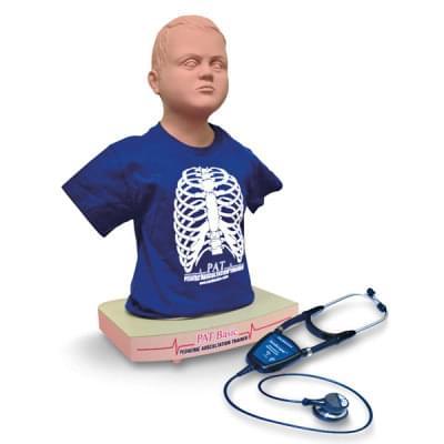 NZ10214 - PAT BASIC™ pediatrická figurína pre nácvik auskultácie s Wi-Fi® SimScope™