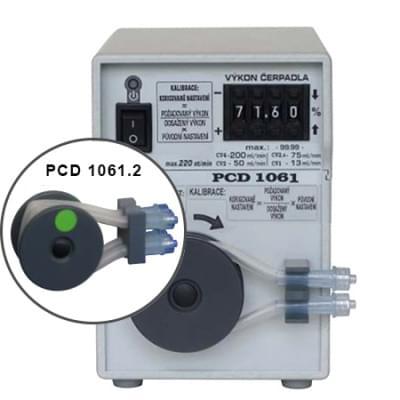 PCD1061.2 - Peristaltické čerpadlo dvouhadičkové, základní provedení, manuální číslicové nastavení výkonu