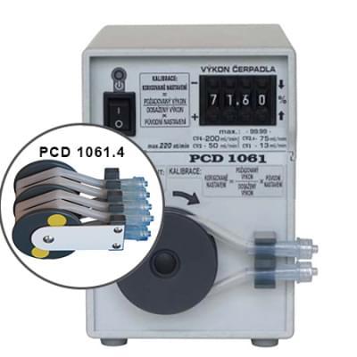 PCD1061.4 - Peristaltické čerpadlo čtyřhadičkové, základní provedení, manuální číslicové nastavení výkonu